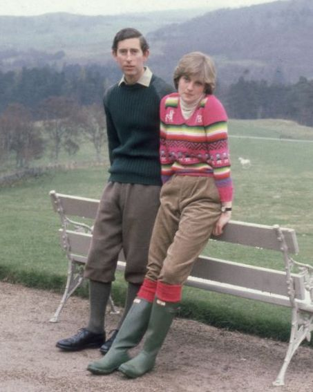 charles and diana at balmoral