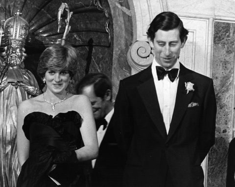 10th march 1981 charles, prince of wales and diana, princess of wales 1961   1997, arriving at a banquet held in goldsmith's hall, london photo by keystonehulton archivegetty images