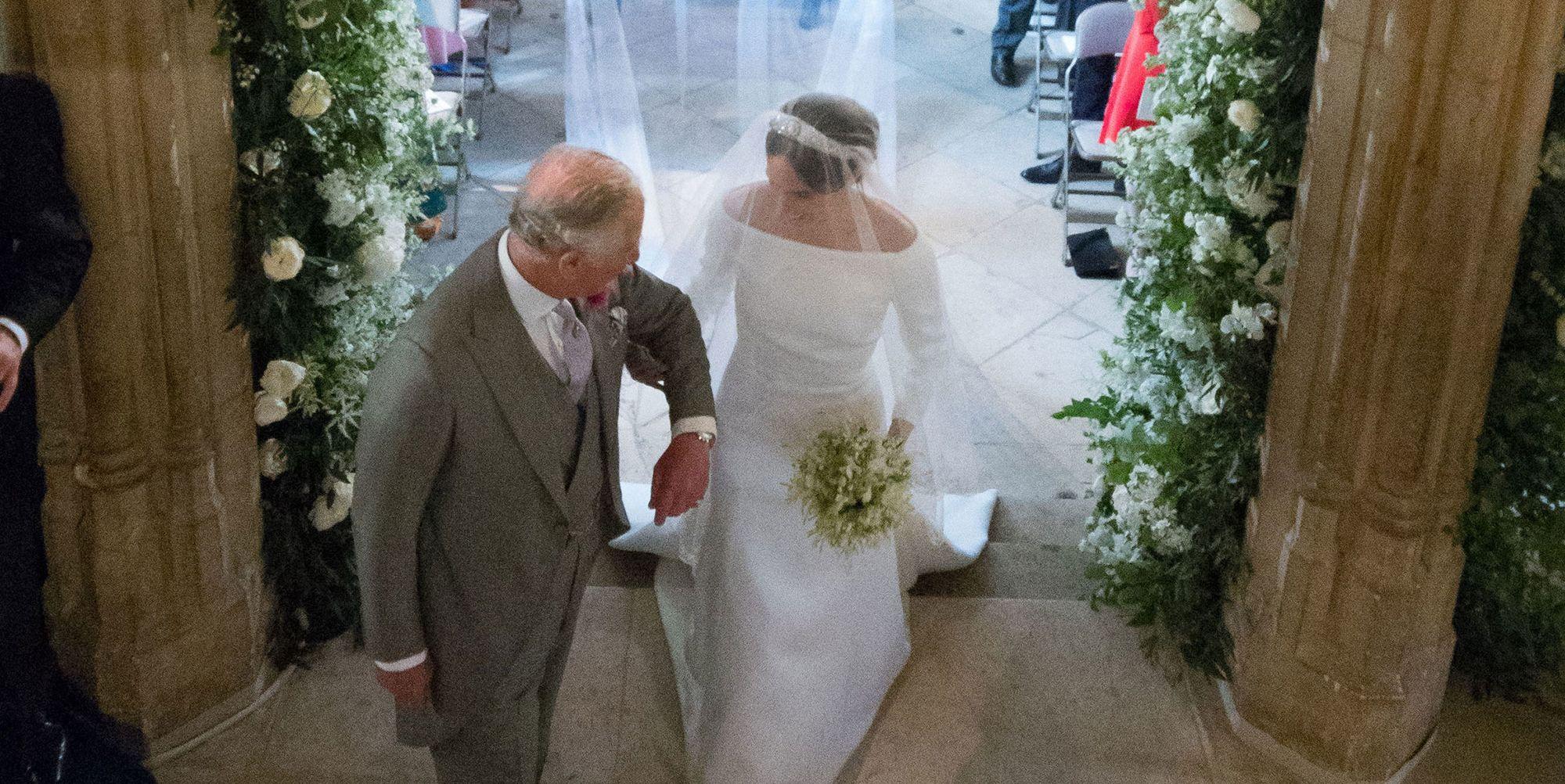 Meghan and Charles at the royal wedding