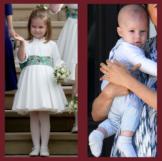 princes george and louis, princess charlotte, and archie