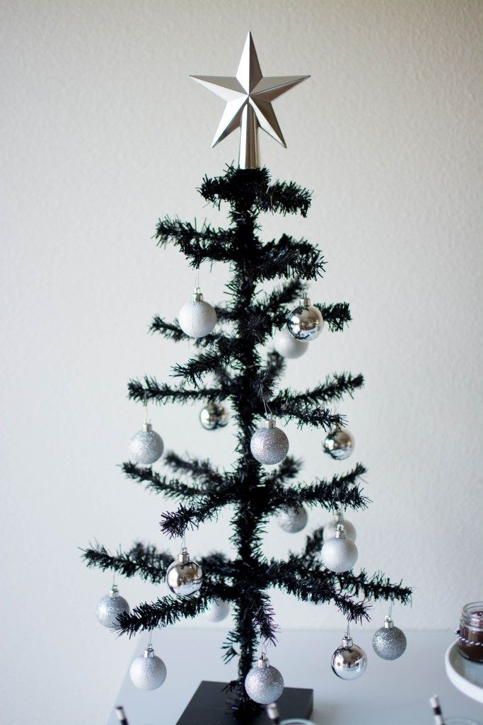 charlie brown black christmas tree