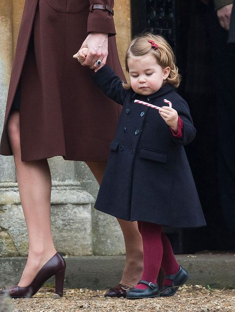 Princess Charlotte with Candy Cane Christmas 2016