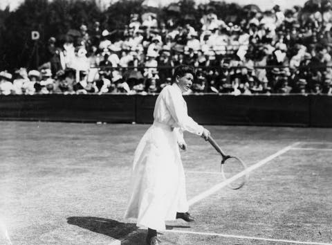 wimbledon ladies singles champion charlotte sterry nee cooper in action at wimbledon   original publication people disc   hh0210   photo by topical press agencygetty images