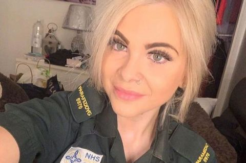 A photo of a young, blonde woman named Charlotte Cope, a paramedic who sadly died while working on the coronavirus frontline