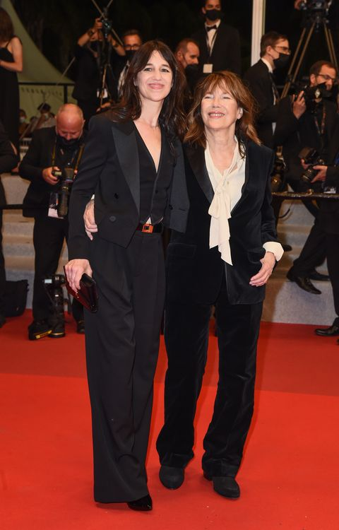 cannes, france   july 07 charlotte gainsbourg and jane birkin attend the screening of jane par charlotte jane by charlotte during the 74th annual cannes film festival on july 07, 2021 in cannes, france photo by dominique charriauwireimage