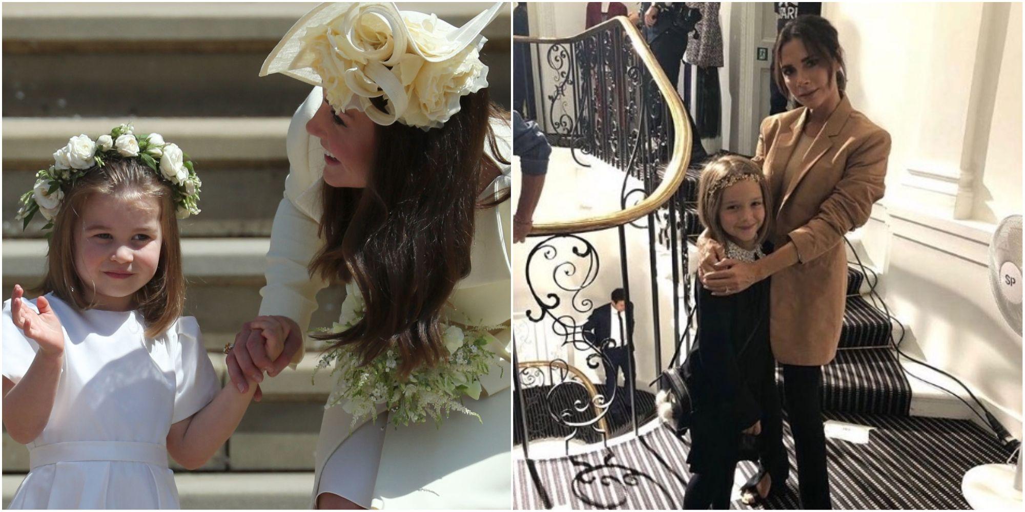 Harper Beckham and Princess Charlotte