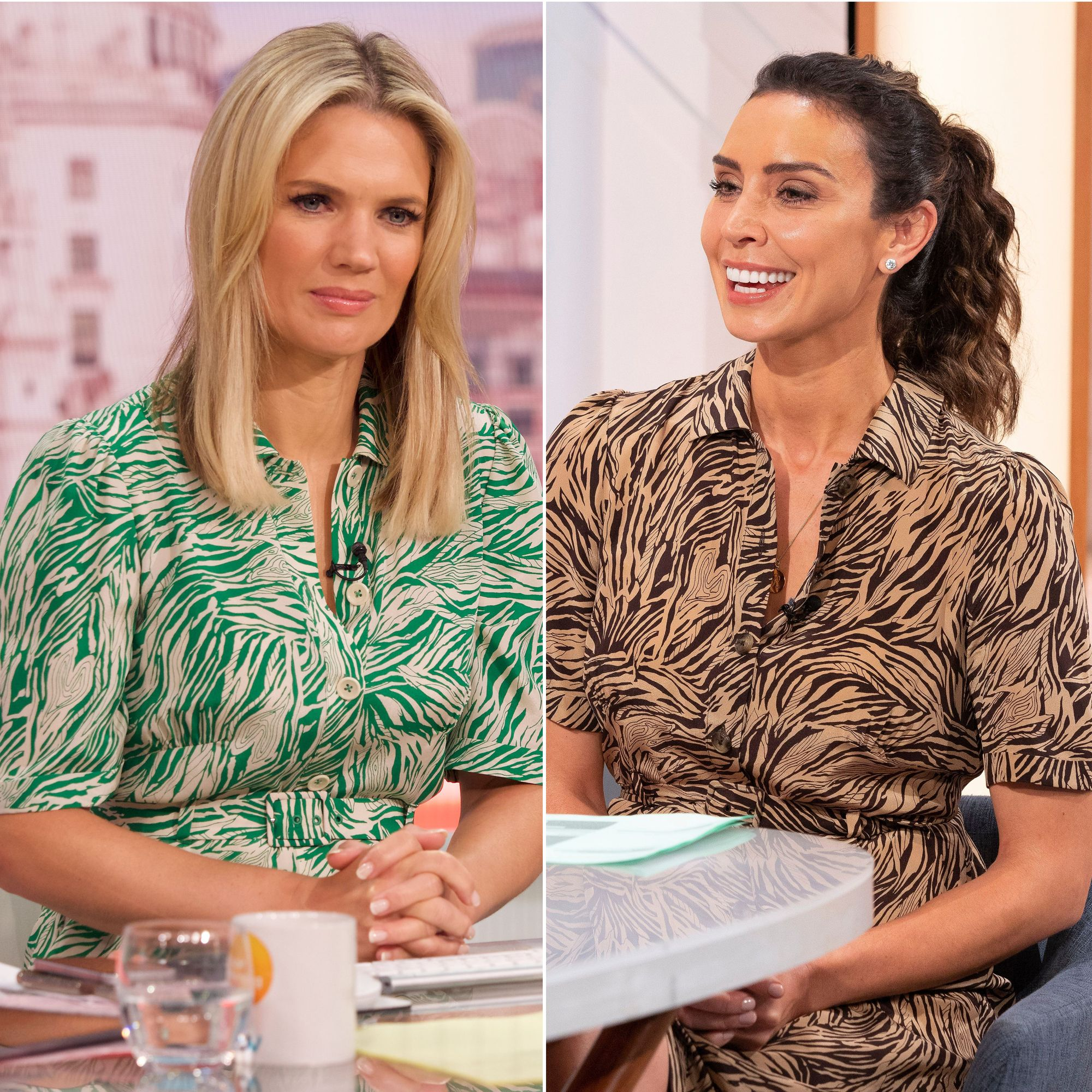 Christine Lampard and Charlotte Hawkins just wore the same dress live on air
