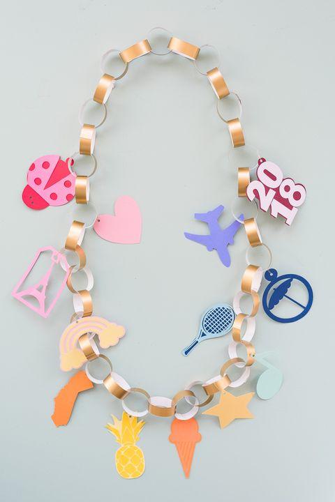charm bracelet lei graduation party ideas