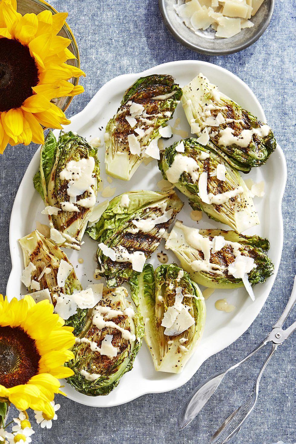 charred gem lettuce recipe