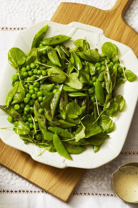 Charred Snap Peas with Creamy Tarragon Dressing - Easter Dinner Menus