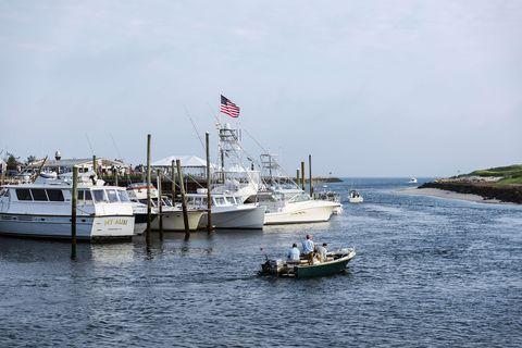 Charter fishing boats leaving Sesuit Harbor...