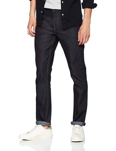 Clothing, Jeans, Denim, Pocket, Trousers, Standing, Suit trousers, Formal wear, Textile, Shoe,