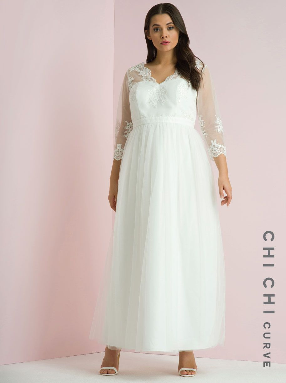Cheap plus size wedding dresses - Chi Chi London