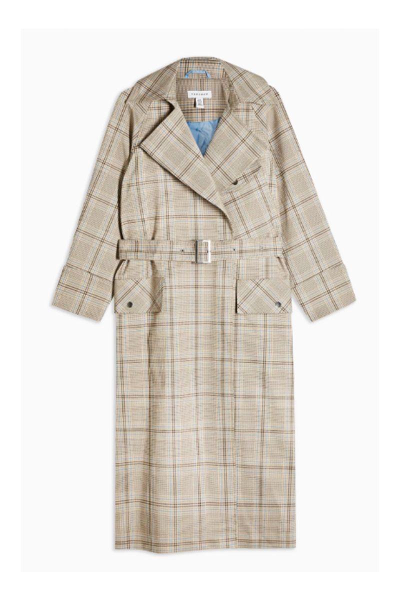 grey check coat womens