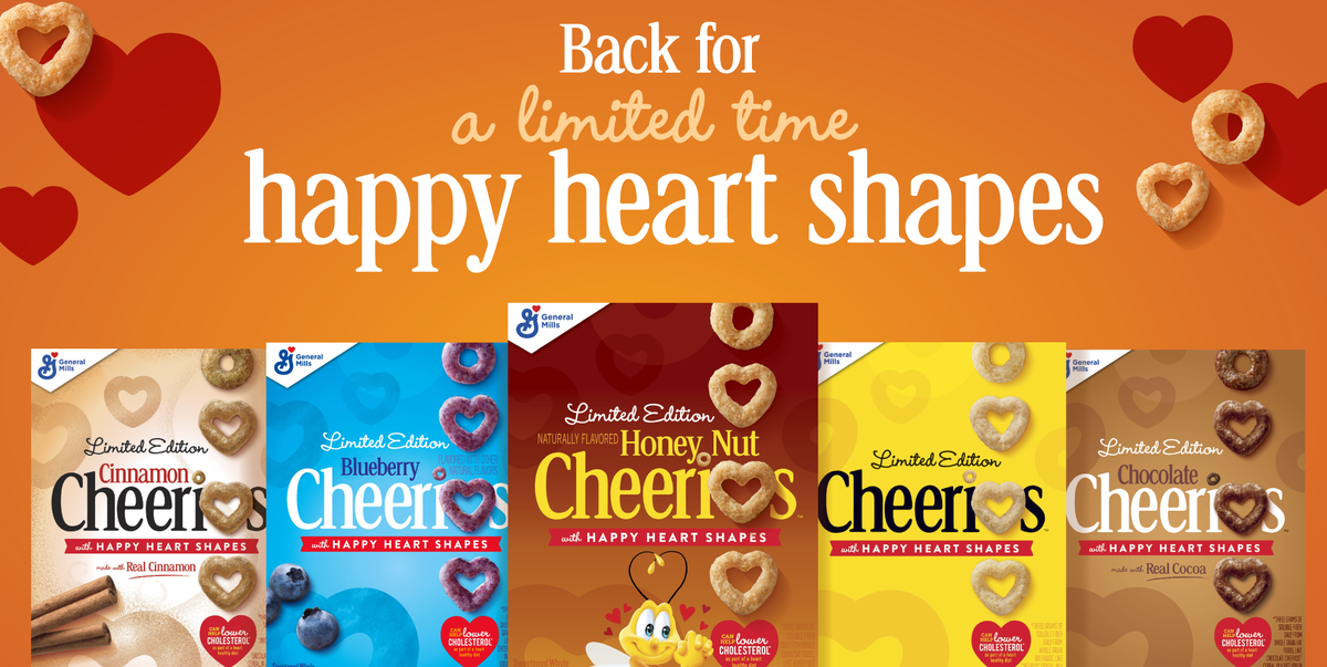 Cheerios Is Bringing Back Its Heart-Shaped Cereal And Getting New Flavors In On The Fun