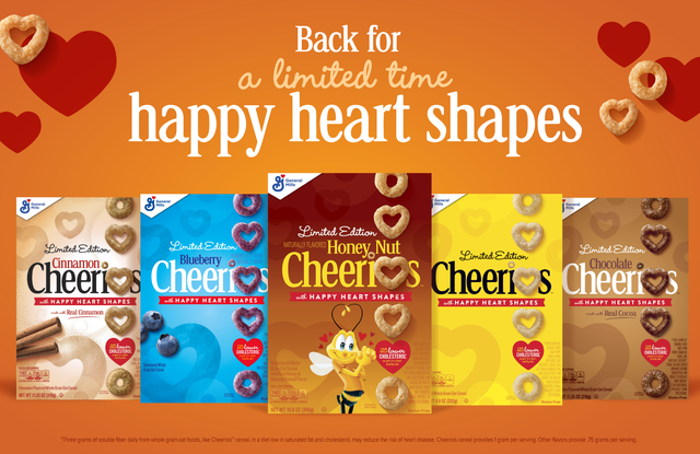 cheerios cereals are coming in heart shapes