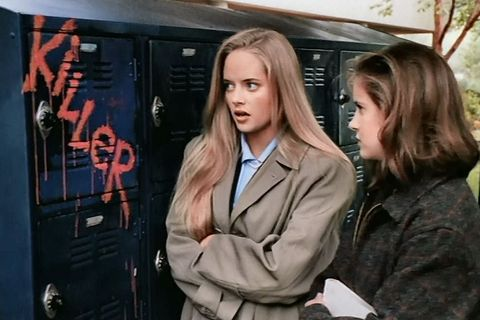 Blond, Long hair, Jacket, Fictional character, Movie, Street fashion, Brown hair, Uniform, Machine,