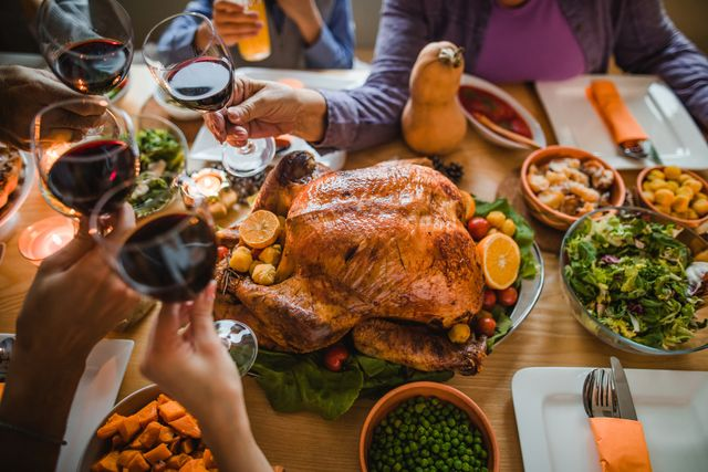 cheers to this great thanksgiving dinner