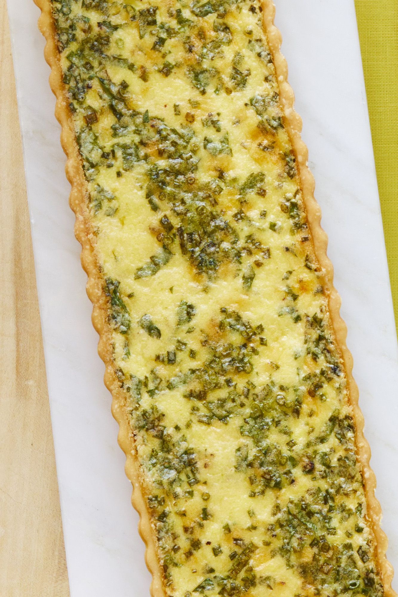 cheese and herb quiche