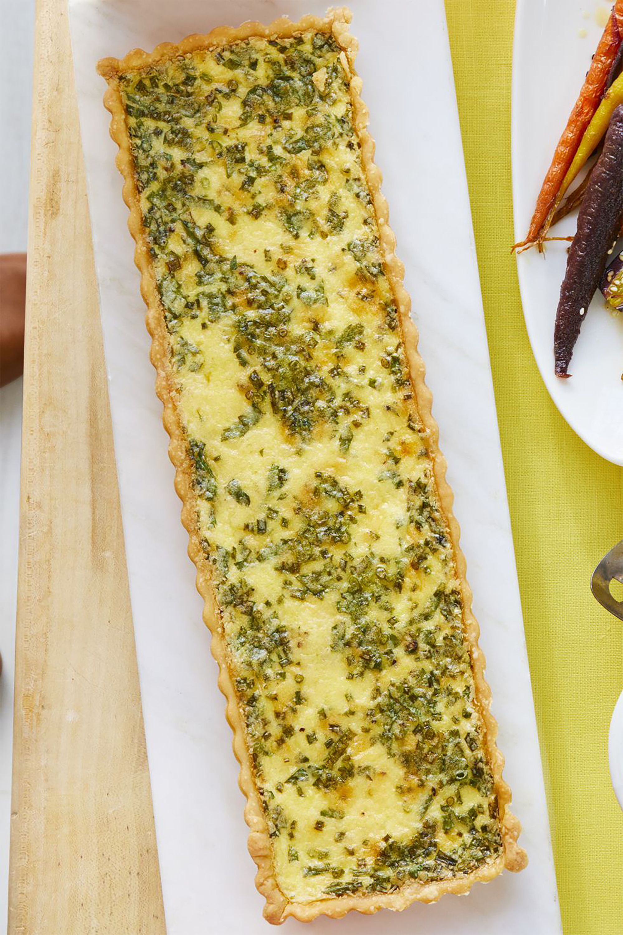 Cheese-and-Herb Quiche Kid-Friendly Breakfast Recipe