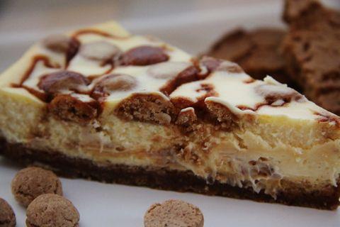 Wil Je Maken Cheesecake Met Witte Chocolade Kruidnoten Speculaas