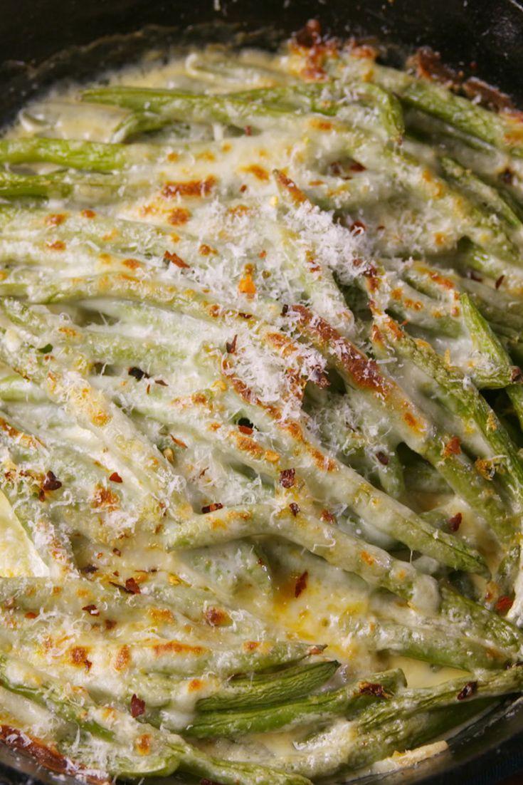 cheesy baked green beans recipe