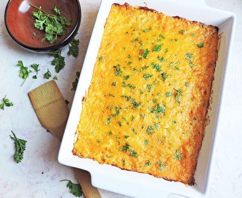 cheesy cauli hashbrown casserole