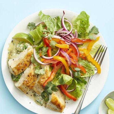 Dish, Food, Cuisine, Garden salad, Salad, Caesar salad, Ingredient, Vegetable, Produce, Vegetarian food,