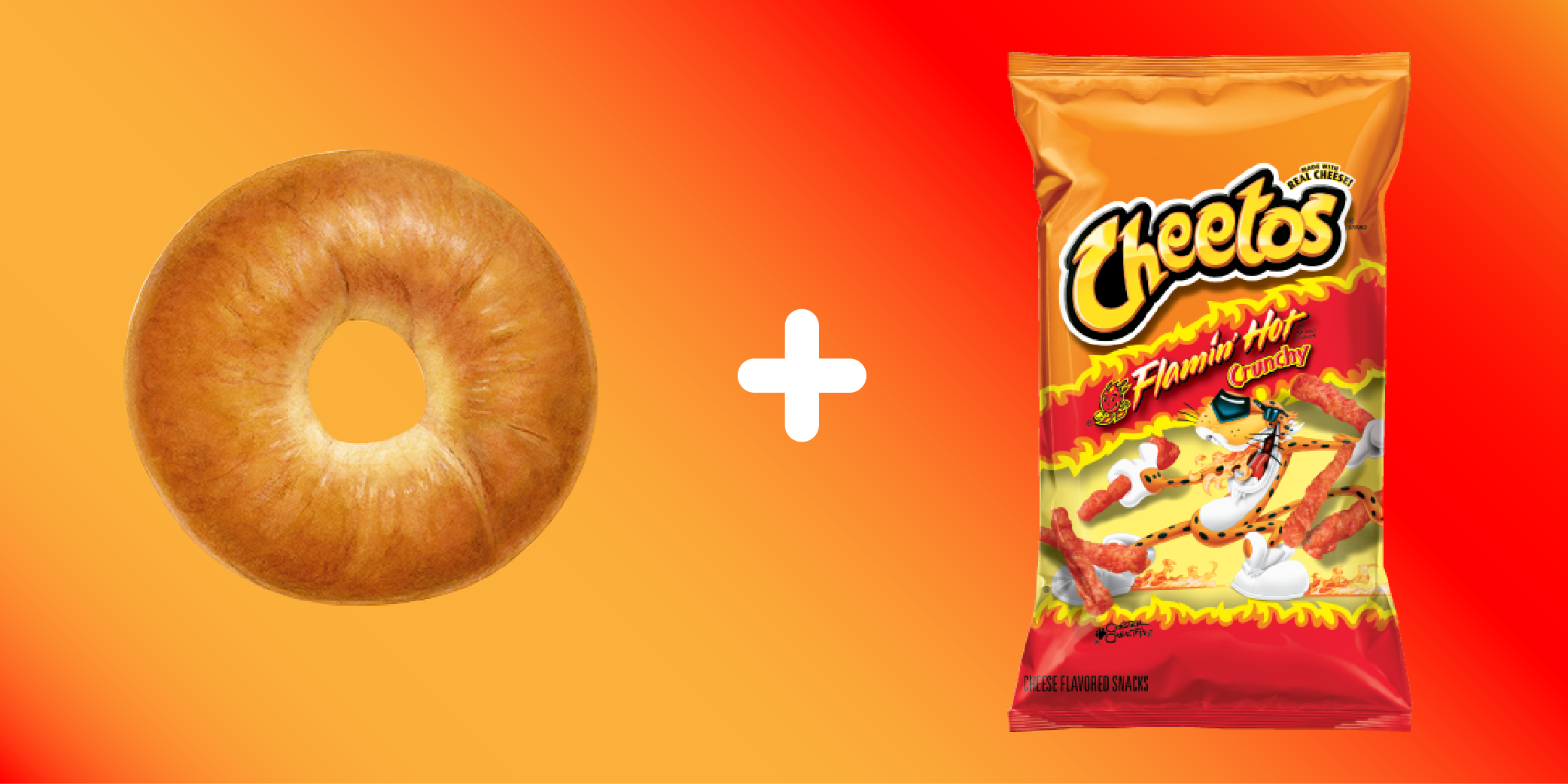 This Is Not a Drill: A Flamin' Hot Cheetos Bagel Now Exists