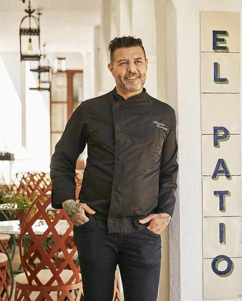 el chef armando codispoti del restaurante el patio de marbella