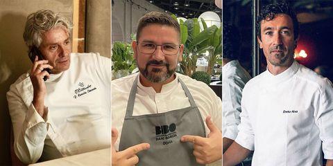 Fernando Canales Etxanobe, Dani García y Eneko Atxa