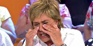 Chelo García Cortés llora en 'Sálvame'