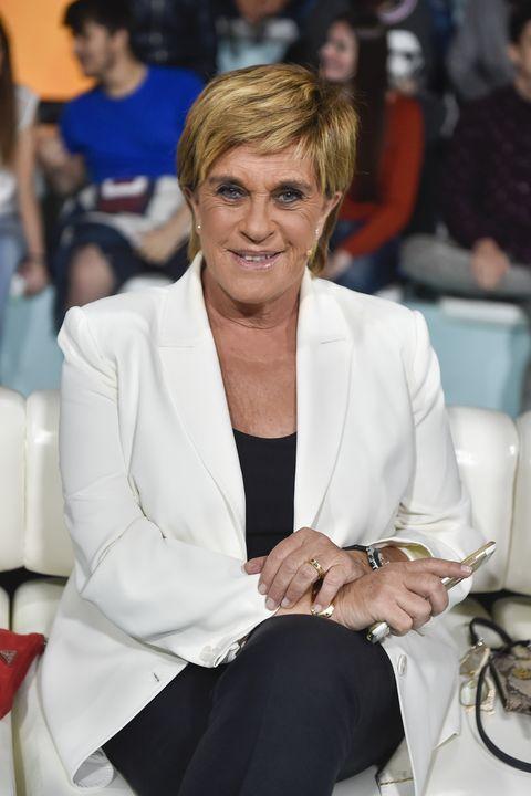 la periodista chelo garcía cortés durante la gala de supervivientes en madrid