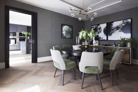 Room, Property, Interior design, Building, Ceiling, Furniture, Floor, Dining room, House, Wall,