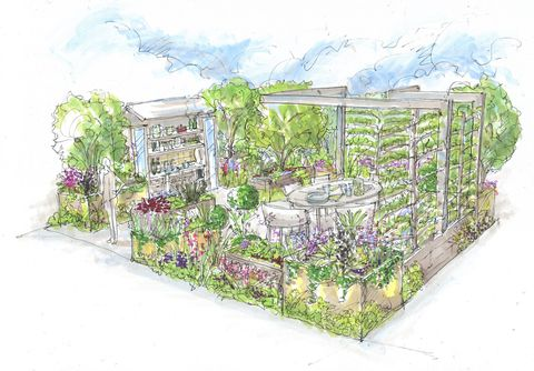 chelsea flower show 2021, the parsley box garden designed by alan williams
