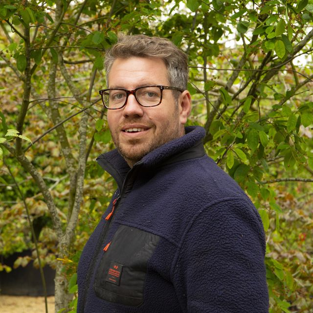 alan williams, garden designer of the parsley box garden at the chelsea flower show 2021
