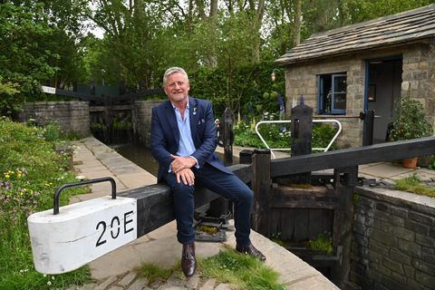 'king of chelsea' mark gregory has built 5 of this year's gardens at the chelsea flower show 2021