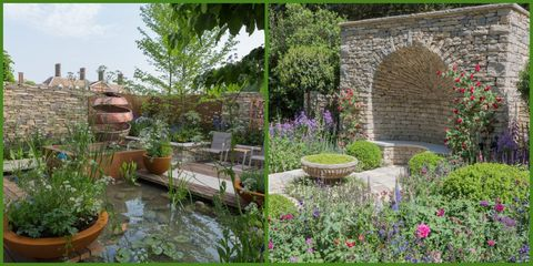 Garden, Yard, Natural landscape, Backyard, Landscape, Plant, Landscaping, Grass family, Courtyard, Flower,