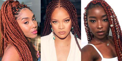 red box braids