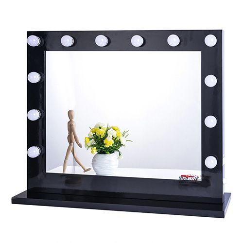 square vanity mirror with lights. Chende Black Hollywood Lighted Makeup Vanity Mirror Light 8 Best Mirrors in 2018  and