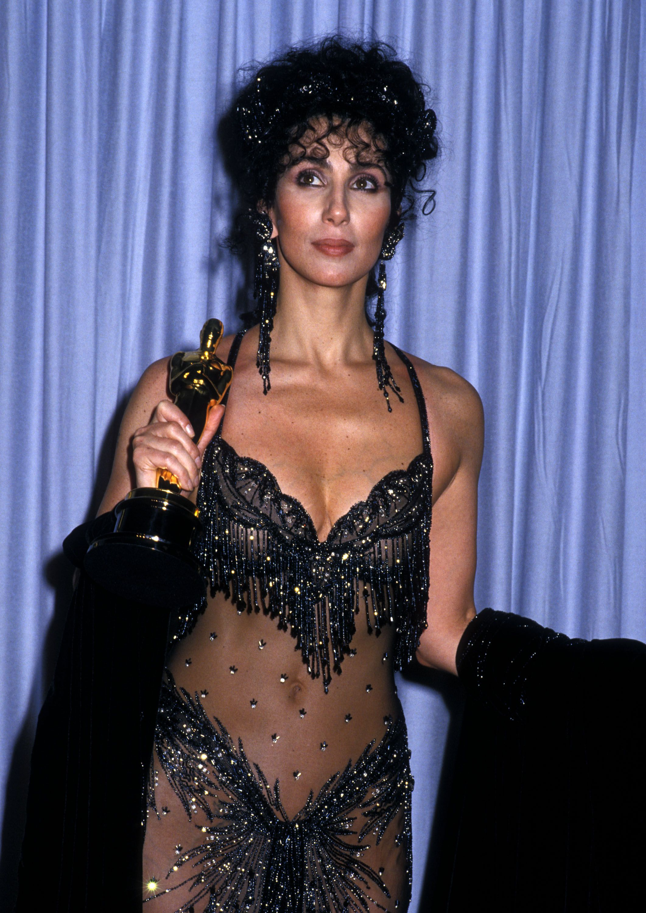 Cher Iconic Oscars Dress – Remember When Cher Wore Bob Mackie's Naked Dress  to the Academy Awards in 1988