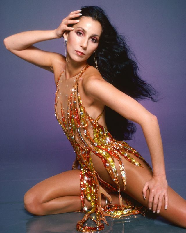 los angeles   march 9 singer and actress cher poses for a fashion session in a bob mackie creation on april 9, 1978 in los angeles, california  photo by harry langdongetty images