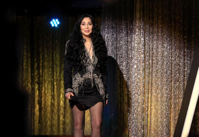 billboard music awards     show    2020 bbma at the dolby theater, los angeles, california    pictured in this image released on october 14, cher speaks onstage for the 2020 billboard music awards, broadcast on october 14, 2020 at the dolby theatre in los angeles, california     photo by christopher polknbc