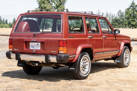 1985 jeep cherokee on bring a trailer