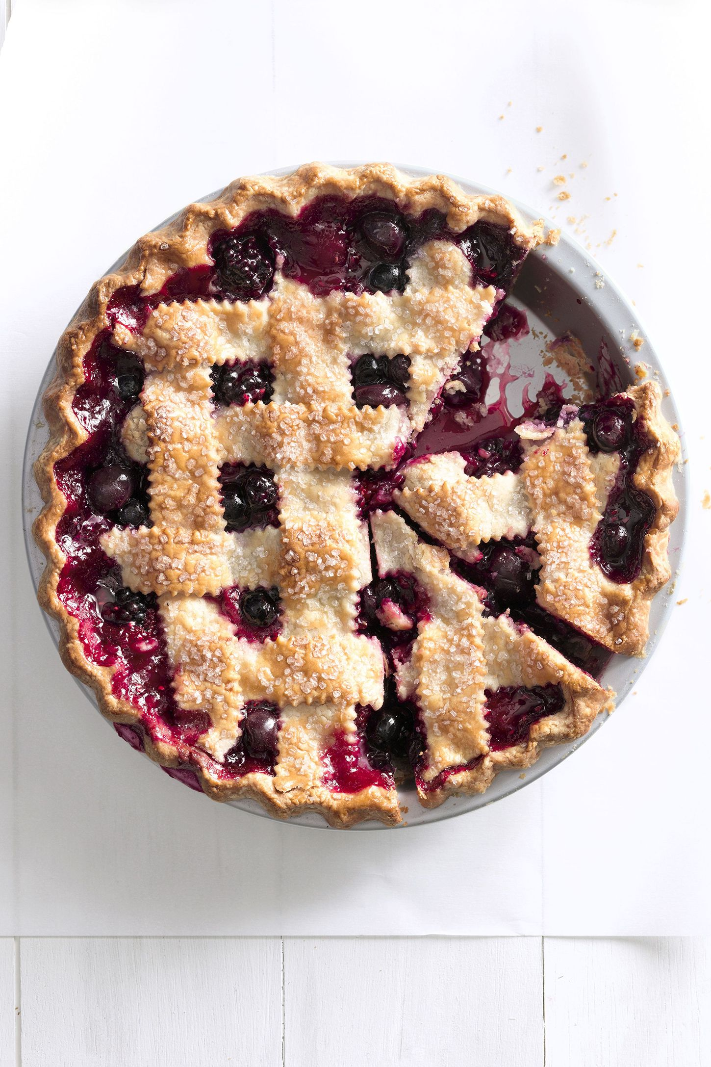 cherry berry jumble fruit pie
