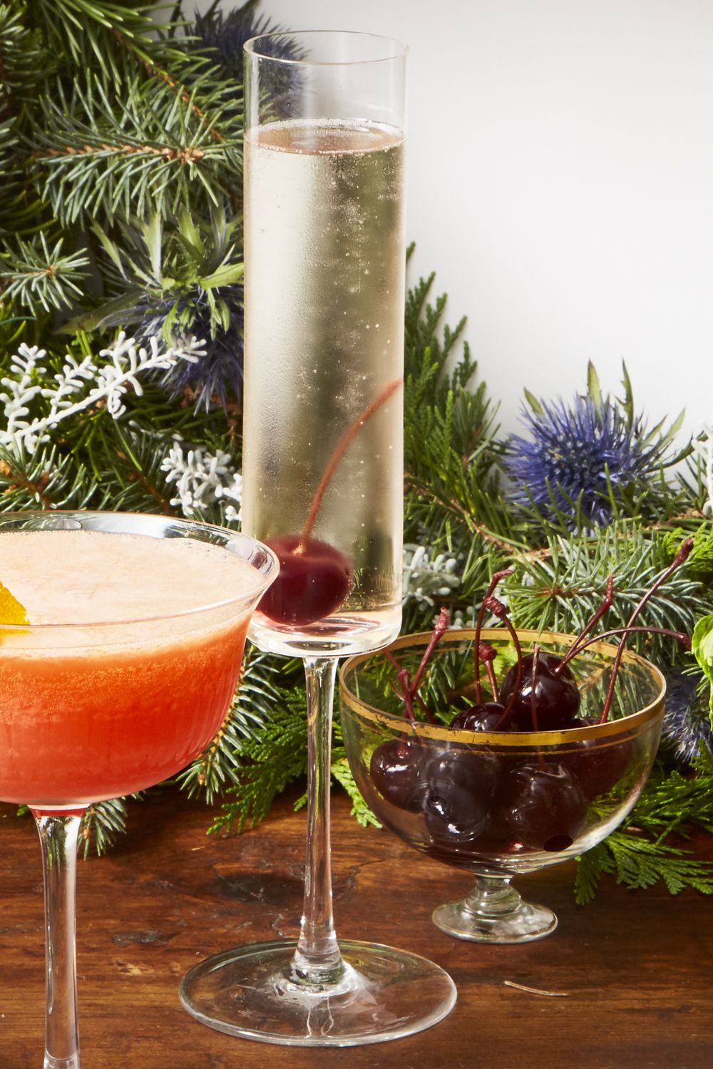 Cherry Bomb Fizz - Christmas Cocktails
