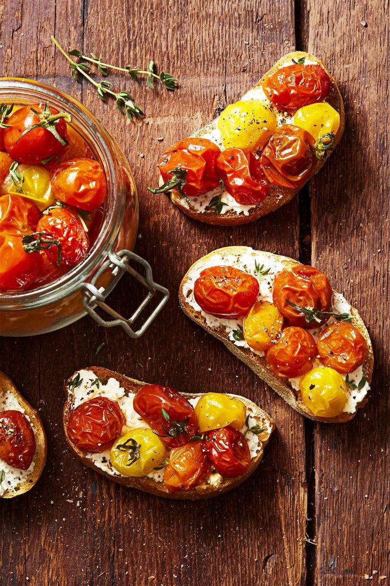 Cherry Tomato Confit - Memorial Day Appetizers