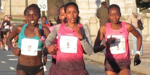 Janet Bawcom at 2014 Cherry Blossom 10 Mile Run