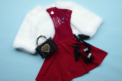 White, Red, Clothing, Dress, Outerwear, Sleeve,