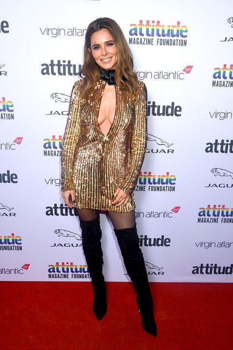 cheryl cole gold dress